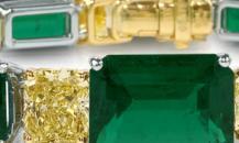 Graff祖母绿及黄钻手镯 - 格拉夫珠宝