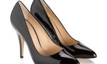 巴利黑色漆皮尖头高跟鞋