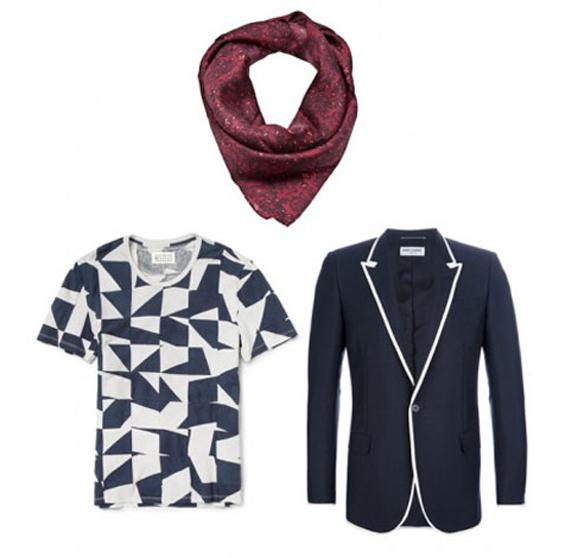 男士领巾 今年搭配西装夹克必备单品