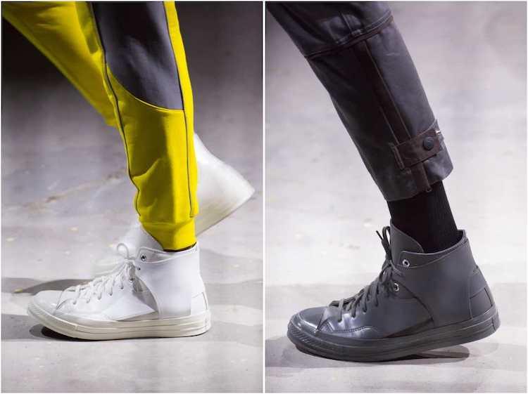 Converse新款小白鞋曝光! 时装周限定设计拼接款式真的太美-1