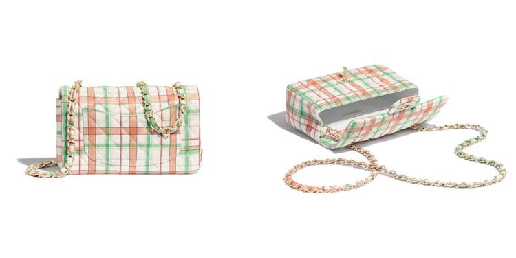 Chanel也能很可爱! 经典包款换上粉嫩格纹新装,背上逆龄成大学生-1