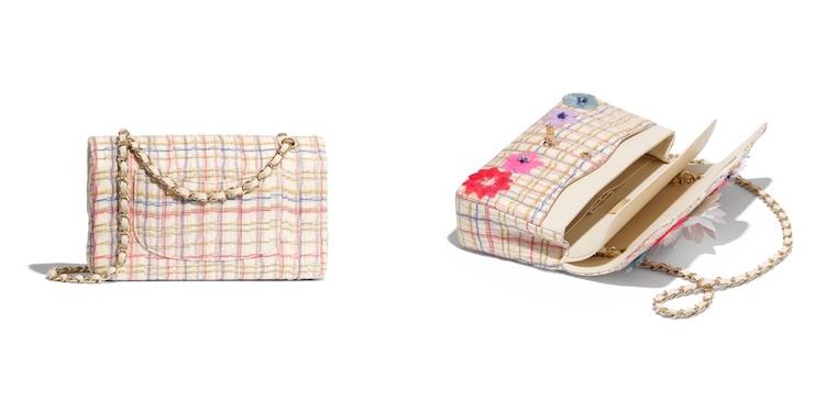 Chanel也能很可爱! 经典包款换上粉嫩格纹新装,背上逆龄成大学生-5